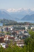 lucerne aerial view - stock photo