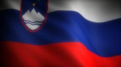 Flag of Slovenia - stock footage