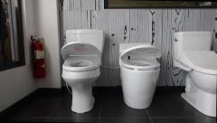 Automatic Toilets Stock Footage