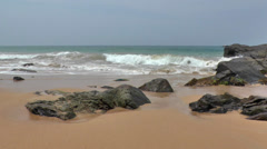 Ocean Waves and Beautiful Beach,Sri Lanka. - stock footage