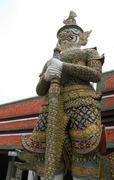 Demon Guardian at Wat Phra Kaew,Buddha, Bangkok, ThailandMG 0045 - stock photo