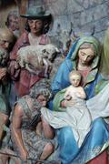 Nativity Scene, Adoration of the Shepherds Stock Photos