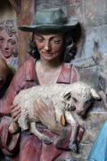 Nativity Scene, Adoration of the shepherds - stock photo