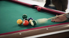Snooker quick strike Stock Footage