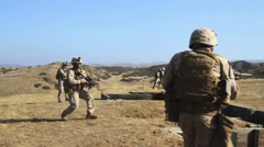 US-Navy - Marines 01 - Fire & Maneuver Training 02 - Camp Pendleton - stock footage