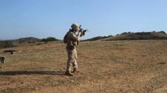US-Navy - Marines 01 - Fire & Maneuver Training 04 - Camp Pendleton Stock Footage