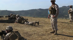 US-Navy - Marines 01 - Fire & Maneuver Training 06 - Camp Pendleton Stock Footage