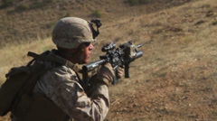 US-Navy - Marines 01 - Fire & Maneuver Training 07 - Camp Pendleton Stock Footage