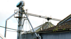 Farming grain dryer Stock Footage