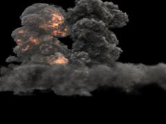 FumeFx Effector Bomb Explosion 3 Stock Footage