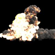 FumeFx Effector Bomb Explosion 4 Stock Footage
