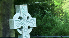 Grave stone crosss Stock Footage