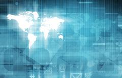 Satellite technology Stock Illustration