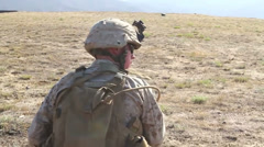 US-Navy - Marines 01 - Fire & Maneuver Training 09 - Camp Pendleton Stock Footage