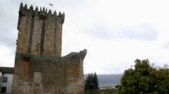 Chaves Castle, Portugal Stock Footage