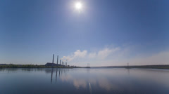 Landscape Electrical Station On A Sunny Day Stock Footage