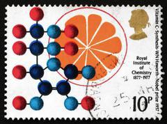 Postage stamp GB 1969 Vitamin C Synthesis Stock Photos