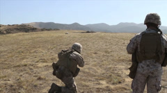 US-Navy - Marines 01 - Fire & Maneuver Training 12 - Camp Pendleton Stock Footage