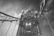 Stock Photo of The Tower Bridge, London. Awesome view with dramatic sky