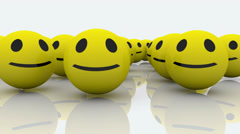 Group of smileys Stock Footage