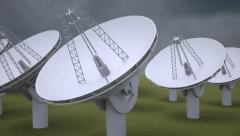 Radio telescope Stock Footage