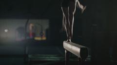 4K Ultra HD - Gymnast Slow Motion on Beam Stock Footage