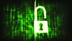 Cracked security code abstract image. Password protection conceptual footage. Stock Footage