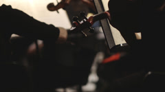 Stock video footage violin instruments, symphony orchestra, - stock footage