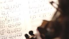 Stock video footage violin instruments, symphony orchestra, Stock Footage