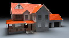 3d model of North American Garden House