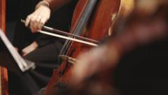 Stock Video Footage of violin instruments, symphony orchestra stock footage