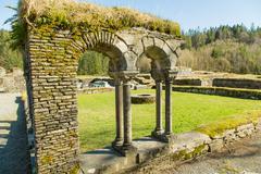 ruins of lyse abbey monastery - stock photo