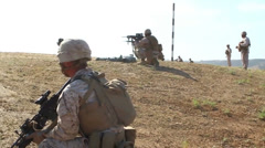 US-Navy - Marines 01 - Live Fire & Maneuver Training 22 - Camp Pendleton Stock Footage