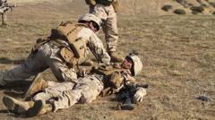 US-Navy - Marines 01 - Live Fire & Maneuver Training 23 - Camp Pendleton Stock Footage
