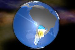 Stock Illustration of Argentina Map on Continent