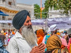 Sikh devotee at the Golden Temple Stock Photos