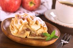Stock Photo of apple strudel with raisins