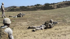US-Navy - Marines 01 - Live Fire & Maneuver Training 31 - Camp Pendleton Stock Footage