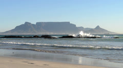 Waves Crashing onto Coast, Cape Town (South Africa) - stock footage
