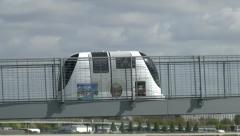 A Personal Rapid Transport (PRT) pod at Heathrow Airport, London, UK. Stock Footage