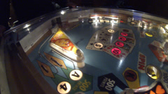 Pinball machine Hearts and Spades gutter ball Stock Footage