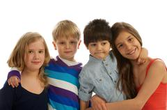 Brothers and Sisters - stock photo