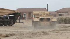 US-Navy - Marines & Engineers - Bridging Capabilities 03 - Pontoon Landing 11 Stock Footage