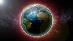 4K Earth on Fire Global Warming Concept 4256 Stock Footage