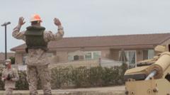US-Navy - Marines & Engineers - Bridging Capabilities 03 - Pontoon Landing 12 Stock Footage