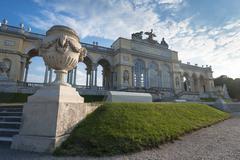 Gloriette at Schonbrunn Sunset, Vienna - stock photo