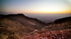 Sunset mountain part of uae time lapse Stock Footage