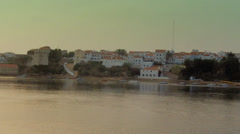 Vila Nova de Milfontes , Mira River and Village view Stock Footage