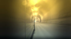 Car driving through a tunnel Stock Footage