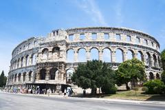 ancient amphitheater - stock photo